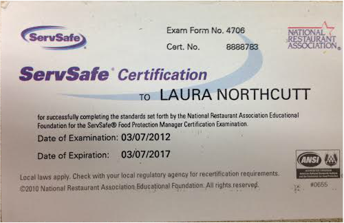 Certifications, Scholarships, and Awards - Laura Emily Northcutt